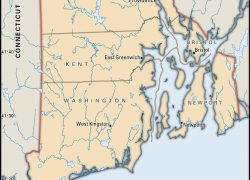 Rhode island map from mapofus 4