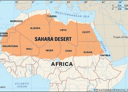 Sahara Desert On World Map: Sahara desert on world map from britannica 1