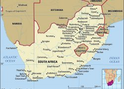 South Africa Map: South africa map from britannica 1