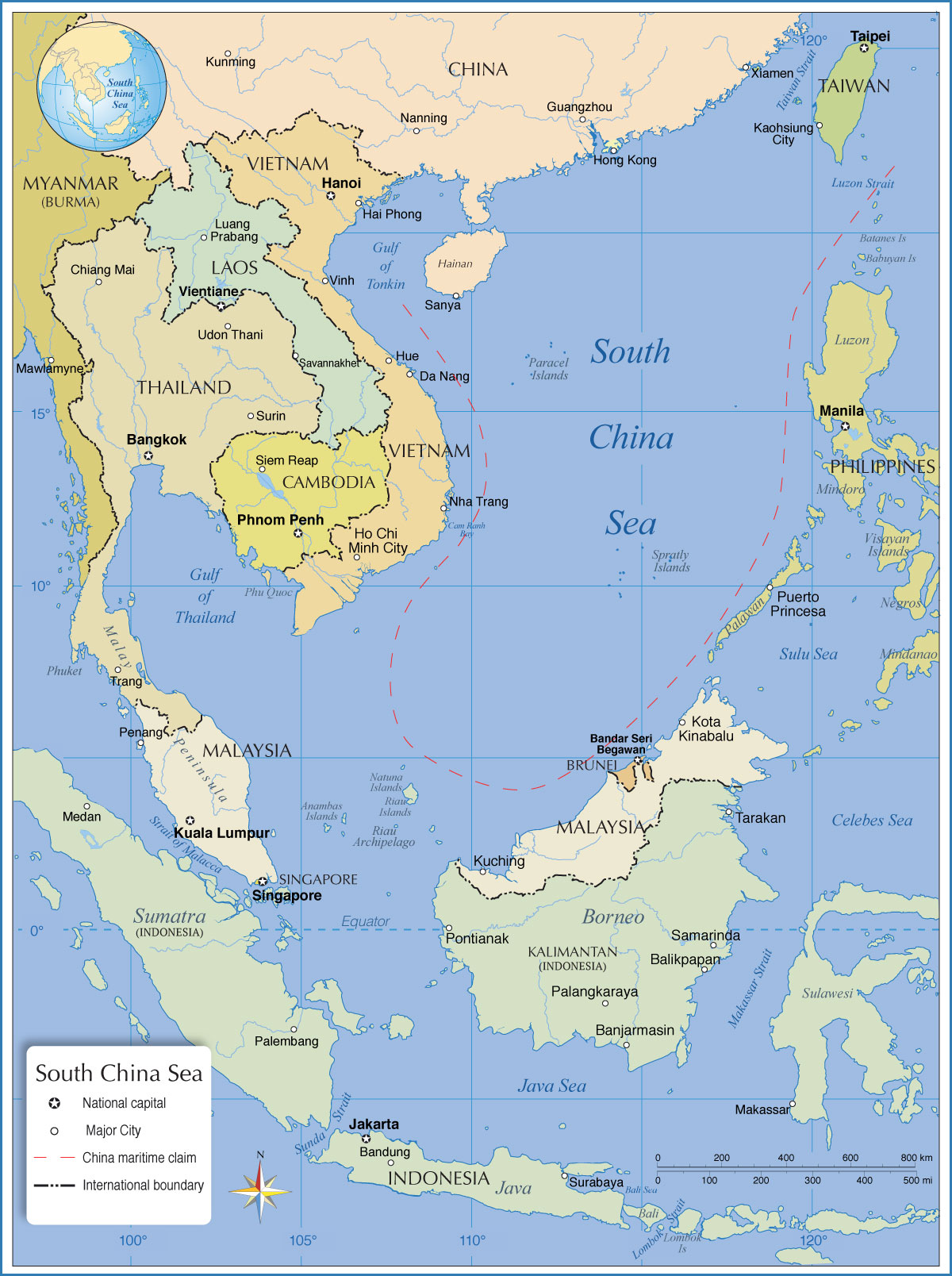 South China Sea Map From Nationsonline 1