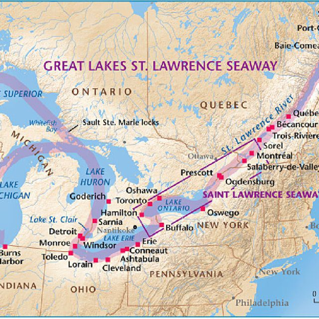 St Lawrence River Map