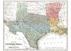 Texas and louisiana map from mapsofthepast 6