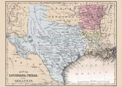 Texas and louisiana map from mapsofthepast 8