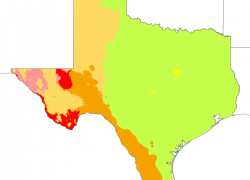 Texas Climate Map: Texas climate map from en 1