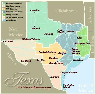 Texas Map With Cities