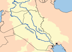 Tigris River Map: Tigris river map from en 1