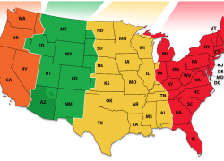 Time Zone Map: Time zone map from time 1