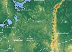 Ural Mountains Map: Ural mountains map from nationsonline 1