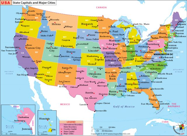Us Map With Cities