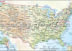 Us map with cities from venusinbont 10