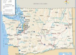 Washington State Map: Washington state map from nationsonline 1