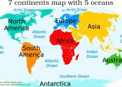 World map 7 continents from pinterest 10
