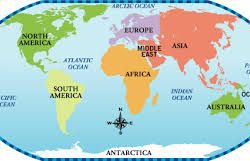 World map 7 continents from pinterest 7