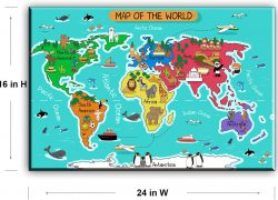 World Map For Kids: World map for kids from amazon 2
