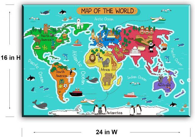 World map for kids from amazon 2