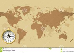 World map with compass from dreamstime 10