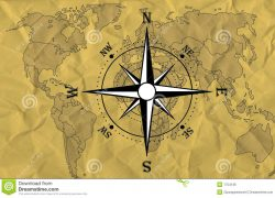 World map with compass from dreamstime 5