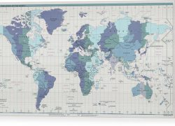 World map with compass from fineartamerica 8