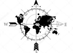 World map with compass from pinterest 6