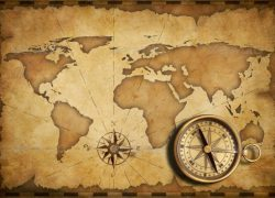 World map with compass from pinterest 9