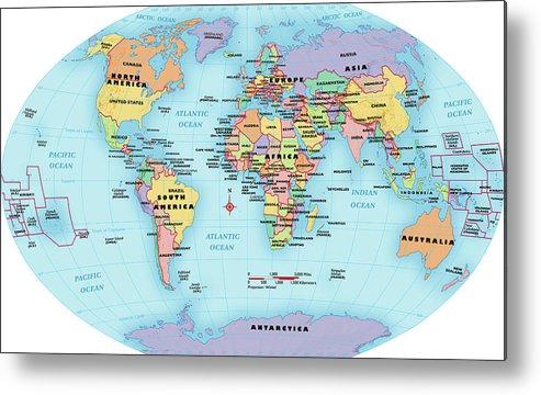 World Map With Labels