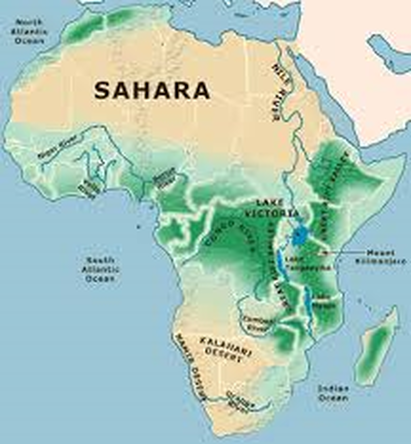 Africa physical features map from pinterest 1