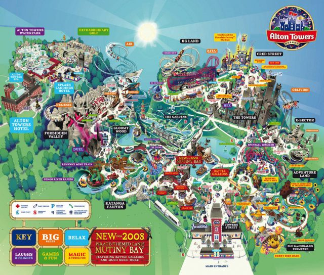 Alton towers map 2020 from pinterest 1