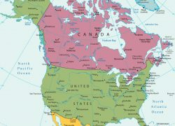 America political map from maps world 3