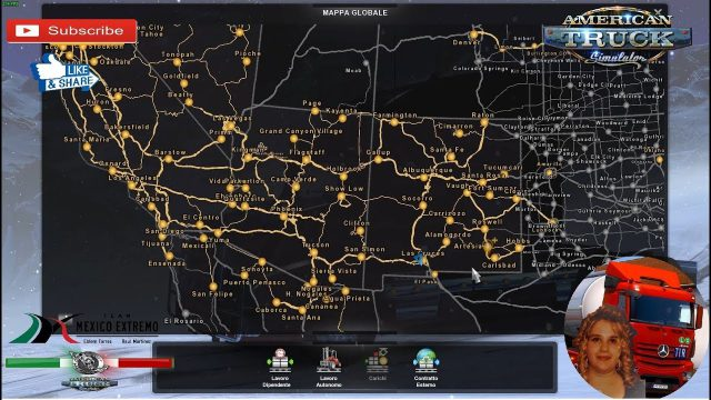 American truck simulator map from youtube 1