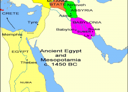 Ancient Assyria Map: Ancient assyria map from en 1