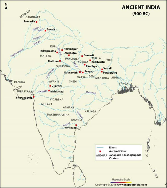 Ancient india map from mapsofindia 1