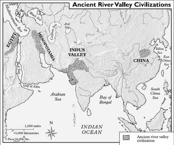 Ancient river valley civilizations map from pinterest 1