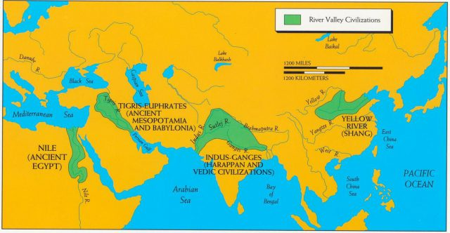 Ancient River Valley Civilizations Map