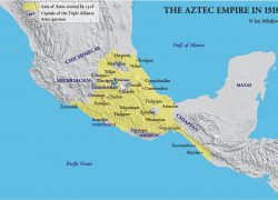 Aztec empire map from br 7