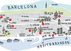 Barcelona tourist map from br 6