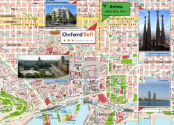Barcelona tourist map from mappery 9
