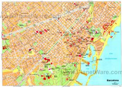 Barcelona tourist map from planetware 7