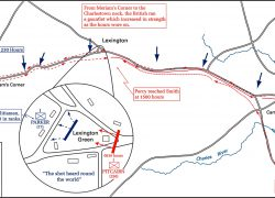Battle Of Lexington And Concord Map: Battle of lexington and concord map from emersonkent 1