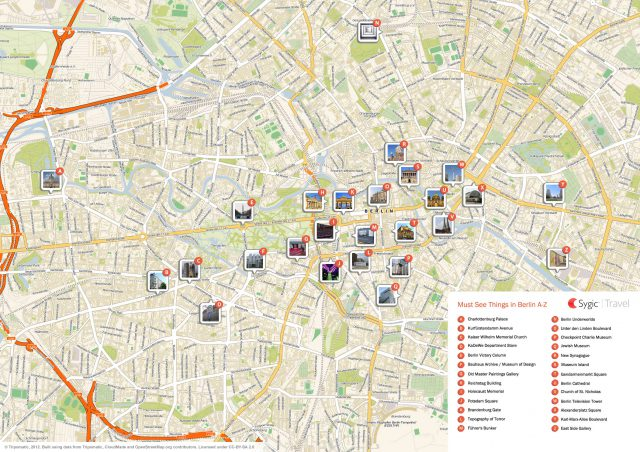 Berlin tourist map from travel 1