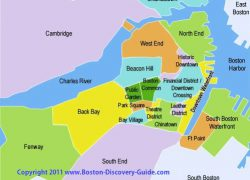 Boston on map from boston discovery guide 10