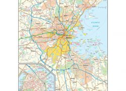 Boston on map from mapshop 9