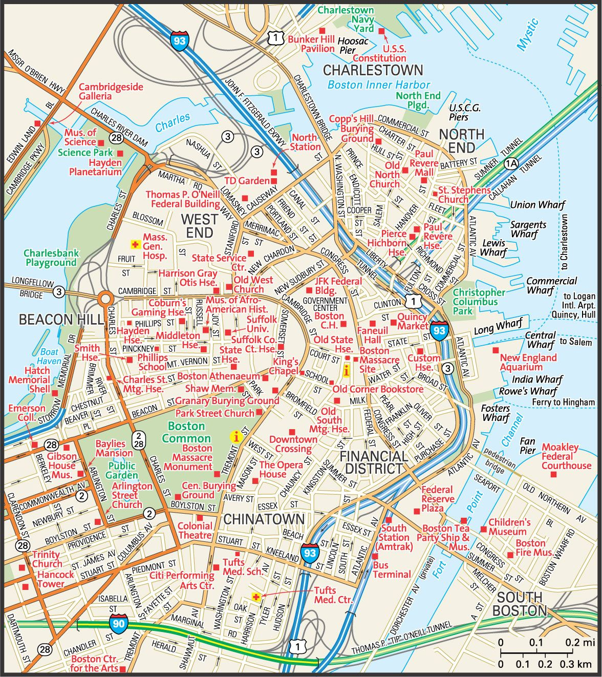 Boston On Map From Pinterest 5