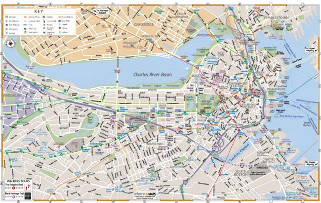 Boston on map from wheretraveler 1