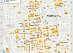 Brown university map from brunonia 2