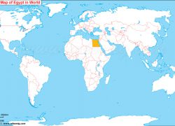 Cairo on world map from whereig 9