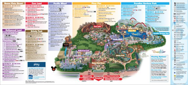 California adventure map from dreamsunlimitedtravel 2