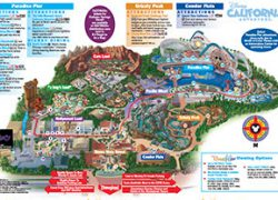 California adventure map from sites 8
