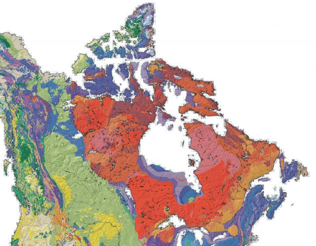 Canadian Shield Map