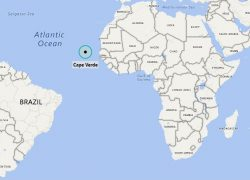 Cape verde map from citiesandplaces 5