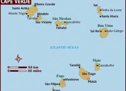 Cape verde map from lonelyplanet 2